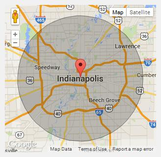 About Us Temporary Fences In Indianapolis IN - Map of indianapolis showing us 52